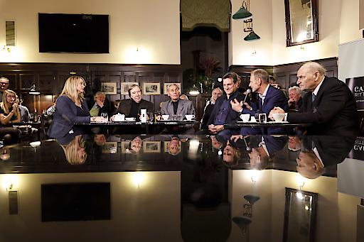Im Bild von links nach rechts: Happel, Netzer, Hasil, Herzog, Palme, Körner