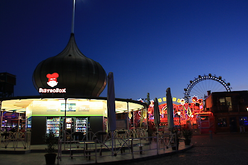 BistroBox auf Expansionskurs. Bild zeigt BistroBox-Standort im Wiener Prater.