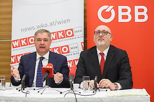 WKW-Präsident Walter Ruck (l.) und ÖBB-CEO Andreas Matthä: Gemeinsam für Österreichs Anbindung an die Neue Seidenstraße.