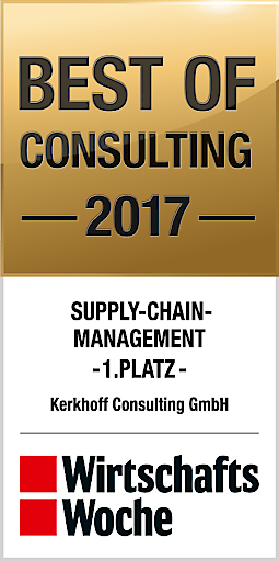 1. Platz Supply Chain Management Best of Consulting 2017