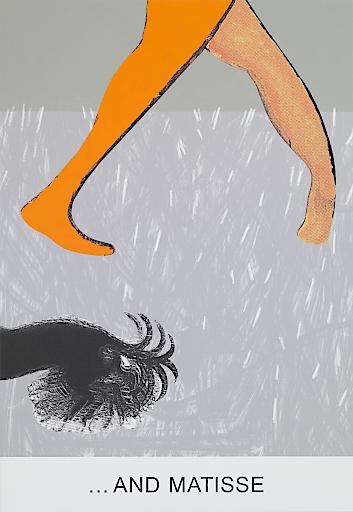 John Baldessari Double Bill:…And Matisse, 2012 Lackierter Tintenstrahldruck, Acryl und Öl auf Leinwand 210,19 × 144,78 cm Courtesy der Künstler und Marian Goodman Gallery © John Baldessari Foto: Marc Domage