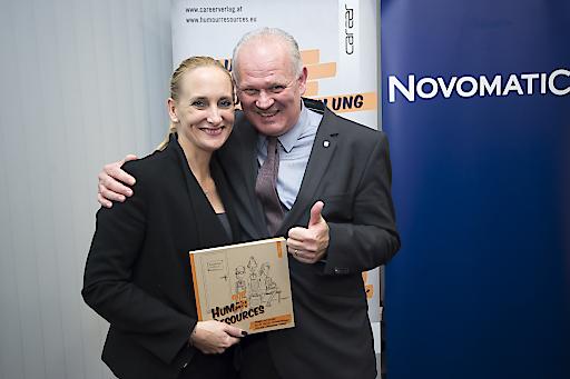 https://www.apa-fotoservice.at/galerie/10902 Mag. Julia Hauska, Herausgeberin HUMOUR RESOURCES und Dr. Klaus Niedl, Herausgeber HUMOUR RESOURCES.