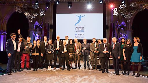 The Innovation in Politics Awards 2017: Preisverleihung am 6. Dezember 2017 im Festsaal des Wiener Rathauses. Es wurden Projekte aus Frankreich, Italien, Polen, Schweden und Deutschland ausgezeichnet. © WWW.SEBASTIANPHILIPP.COM