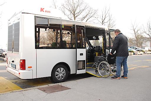 Niederflur Elektrobus barrierefrei, www.k-bus.at