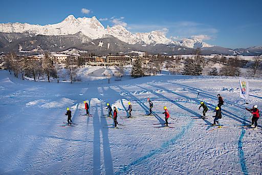 Eislaufen, Langlaufen, Winterwandern, Rodeln und Kulinarik - der Nordic Park in Saalfelden Leogang