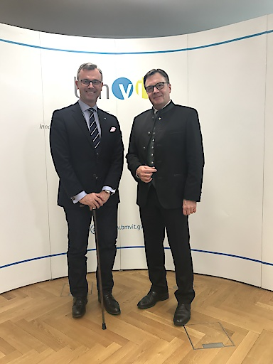 Treffen zwischen Verkehrsminister Norbert Hofer und LH Günther Platter in Wien
