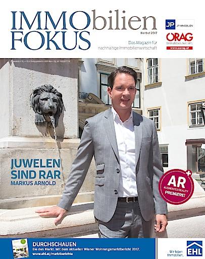 Cover der Herbstausgabe des ImmoFokus mit Markus Arnold
