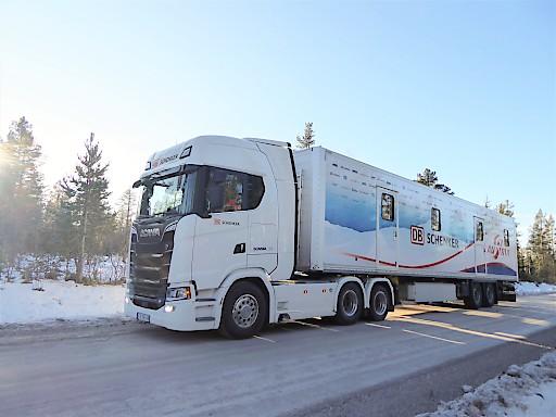 Der Biathlon Truck ist für den ÖSV in Norwegen unterwegs.