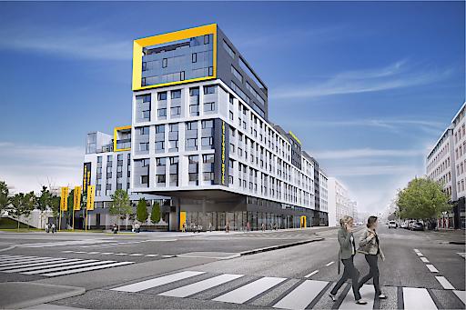 Österreichs größtes Studentenwohnheim an der Nordbahnstaße