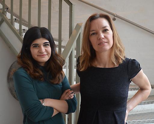 Sprecherinnen des FVB: Schifteh Hashemi (links), Andrea Hladky (re.)