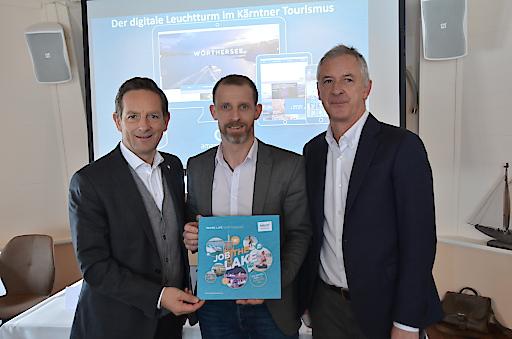 Freuten sich über drei innovative Projekte in der Region Wörthersee: Tourismuslandesrat Christian Benger (Kärntner Landesregierung), Mag. Roland Sint (Wörthersee Tourismus GmbH) und Dr. Erhard Juritsch (KWF Kärnten) - v.l.n.r.