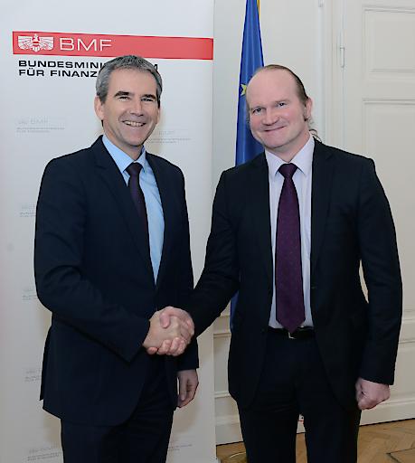 Finanzminister Löger mit dem neuen Vorsitzenden des EFSF-Verwaltungsrates Waiglein