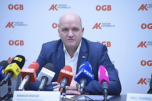 AK Niederösterreich-Präsident und ÖGB NÖ-Vorsitzender Markus Wieser