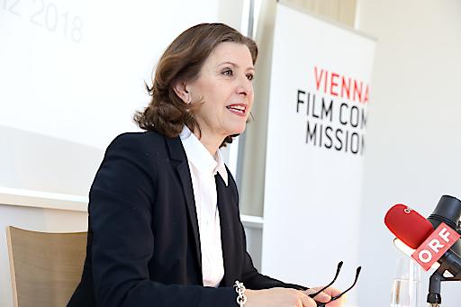 Dr. Marijana Stoisits, Geschäftsführerin bei der Pressekonferenz - 9 Jahre Vienna Film Commission