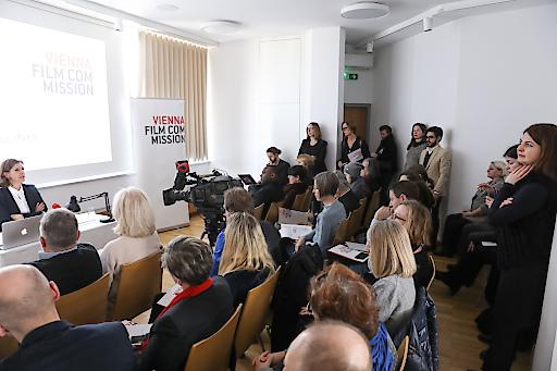 Publikum bei der Pressekonferenz der Vienna Film Commission