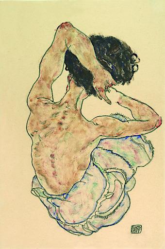 Egon Schiele, Weiblicher Rückenakt, 1917 Oö. Landesmuseum