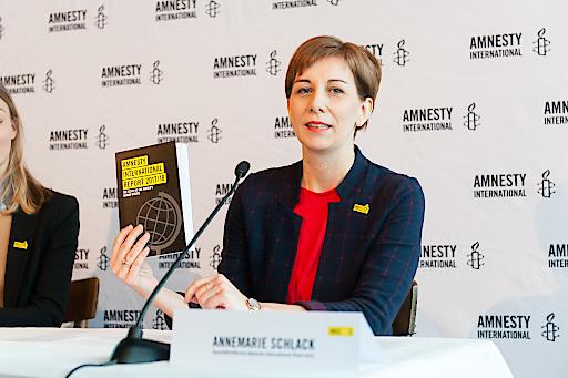 Annemarie Schlack, Geschäftsführerin von Amnesty International Österreich, über den Jahresbericht 2017/18 von Amnesty International zur Lage der Menschenrechte weltweit.