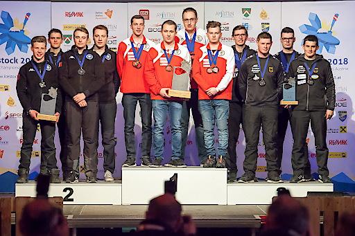 Weltmeister im Junioren Ziel Mannschaftsspiel U23. Gold an Österreich, Silber an Italien und Bronze an Deutschland.
