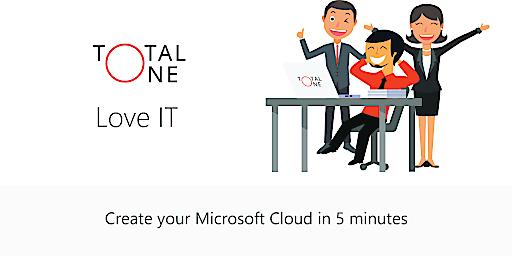 In wenigen Stunden richtet Total One für KMUs online individuell angepasste Kundeninfrastruktur und das persönliche Microsoft Lizenzmanagement ein.