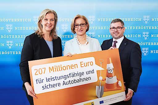 207 Millionen Euro investiert die ASFINAG 2018 in Niederösterreich