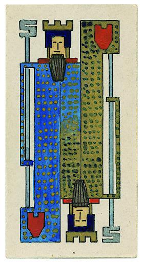 Arnold Schönberg: Spielkarte für Whist/Bridge, ca. 1909/10