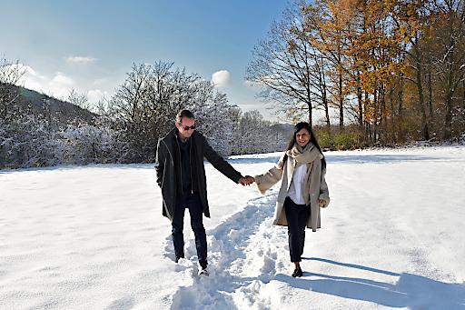 Peter Treichl und seine Verlobte, die auch wesentlich älter ist als er.