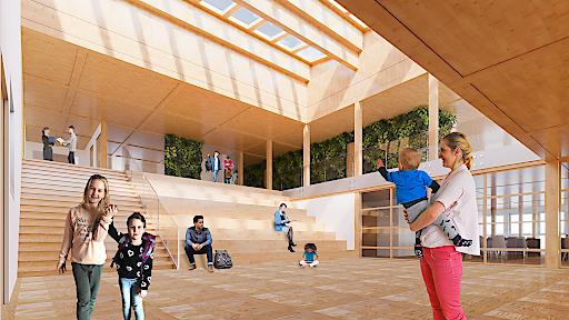 Visualisierung: Der neue International Campus Vienna bietet ab Herbst 2018 architektonisch und pädagogisch optimale Rahmenbedingungen für erfolgreiches Lernen. (Credit: ICV)
