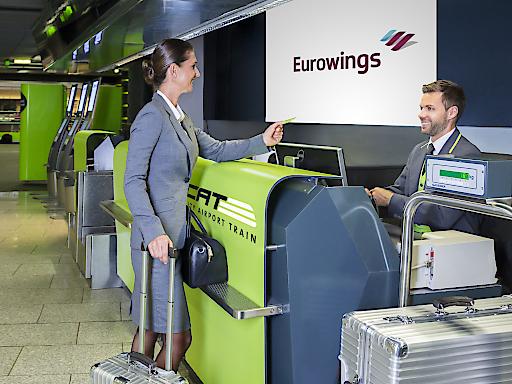 City Airport Train bietet neues Service für Eurowings Passagiere: City Check-in und Gepäckaufgabe mitten im Stadtzentrum.