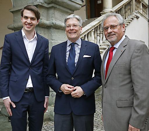 Luca Burgstaller, Peter Kaiser und Gerhard Leitner