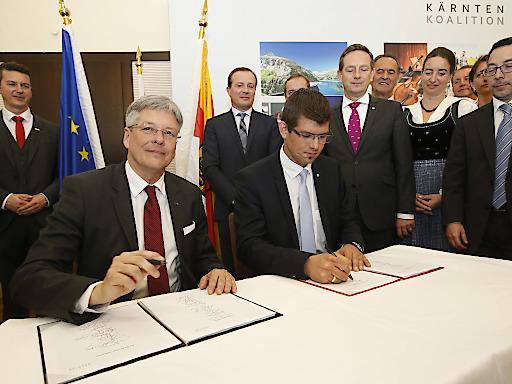 Kärnten-Koalition: SPÖ und ÖVP besiegeln Übereinkommen für ein zukunftsweisendes Arbeitsprogramm