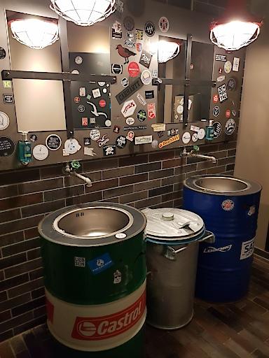Waschgelegenheiten in der Bretterbude Heiligenhafen