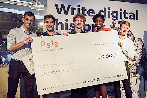 Die Gewinner (von links nach rechts): Auryn Engel, Christian Pfeiffer, Marc Schneider, Estelle Zanga, Stefan Faistenauer