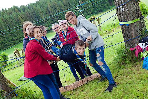 """Viele Abenteuer und spannende Workshops erleben die internationalen Teilnehmer beim Landeslager """"HOME2018"""" der OÖ Pfadfinderinnen und Pfadfinder."""