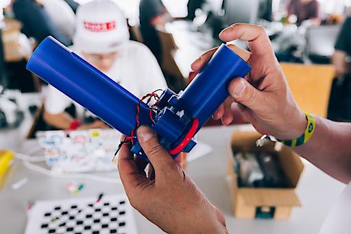 """Das Projekt """"Drink Pong"""", welches beim Hackathon eingereicht und prämiert wurde."""