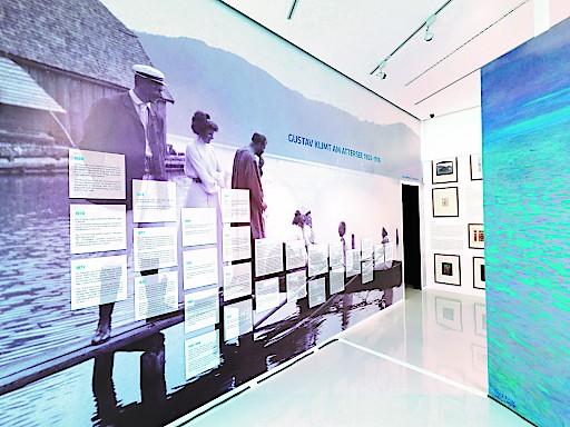 Ausstellungsansicht, Klimt-Zentrum