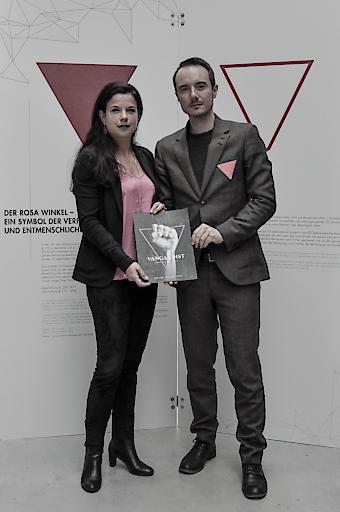 Barbara Glück, Direktorin der KZ-Gedenkstätte Mauthausen und Julian Wiehl, Chefredakteur des VANGARDIST Magazins