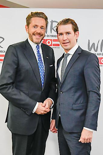 WKÖ-Präsident Harald Mahrer mit Bundeskanzler Sebastian Kurz
