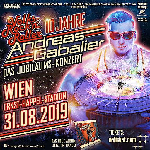 "ARTWORK zur Veranstaltung ""ANDREAS GABALIER MEGA Stadion-Show"""