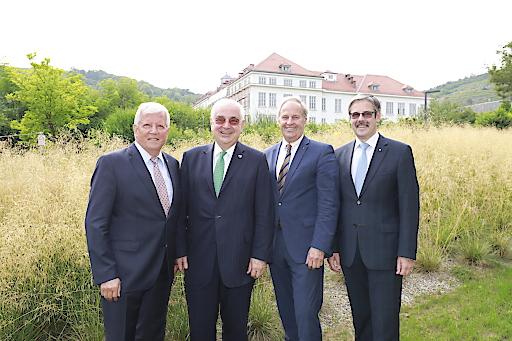 Generalanwalt Walter Rothensteiner mit seinen drei Stellvertretern Jakob Auer, Wilfried Thoma und Erwin Hameseder