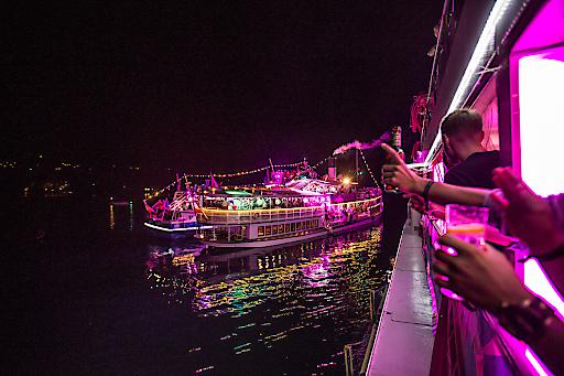 Boat-Cruise-Party auf drei Schiffen der Wörthersee Schifffahrt