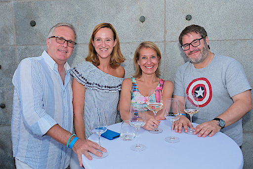 Martin Wilfing (DMVÖ), Michaela Geisler (ÖMG), Eva Mandl (Himmelhoch PR), Reinhard Pickl (addvantage:apps GmbH)