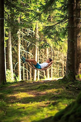 Waldschaukel in Saalfelden Leogang