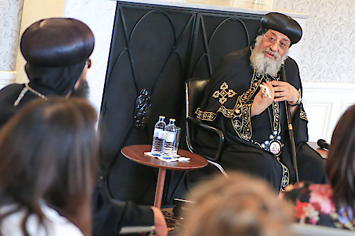 https://www.apa-fotoservice.at/galerie/14681 Pope Tawadros II of Alexandria visited the International Dialogue Centre (KAICIID) on 13 July to learn about the centre's work and to meet with leaders of Vienna's religious communities.