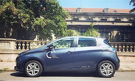 Renault Zoe von Caroo für rein elektrisches Carsharing in Wien