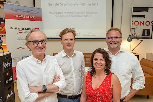 https://www.apa-fotoservice.at/galerie/14693 Im Bild vLnR: Peter Grundmann (Geschäftsführer Hearonymus), Bernhard Jungwirth (Geschäftsführer ÖIAT), Christa Bauer (Geschäftsführerin MKÖ), Willi Mernyi (Vorsitzender MKÖ).