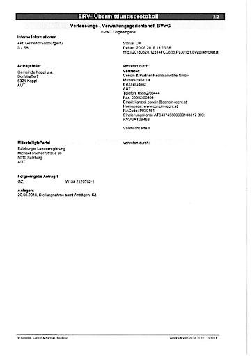 Erhebliche Auswirkungen des EuGH Urteils 110-kV-Leitung Vorchdorf-Kirchdorf für Projekt Salzburgleitung