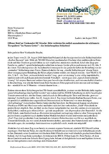 Pdf Animal Spirit Offener Brief An Vizekanzler Hc Strache Animal