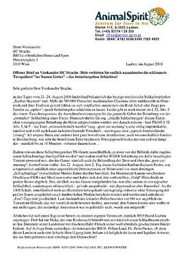 Animal Spirit Offener Brief An Vizekanzler Hc Strache Animal Spirit 24 08 2018