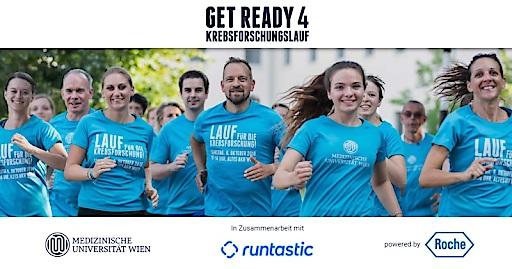 GetReady4Krebsforschungslauf - die digitale Initiative zugunsten der Krebsforschung der MedUni Wien: Roche Austria verwandelt Lauf-Kilometer in bare Münze.