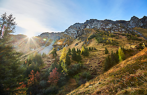 Herbst im Talschluss von Saalbach Hinterglemm